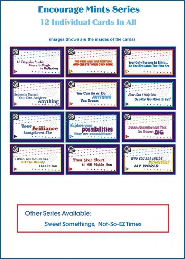 Mini Encouragement Cards - Set of 12, ENCOURAGE MINTS Series